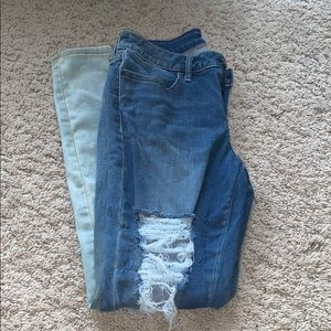 Distressed and bleached Ana jeans